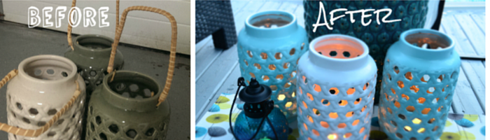 How to DIY your own lanterns for an outdoor oasis by Halifax Home Staging Expert Pam MacKinnon Revive Home Staging